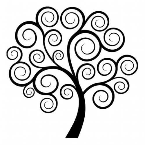Desenează un copac pentru a-ți elibera mintea de gânduri negative