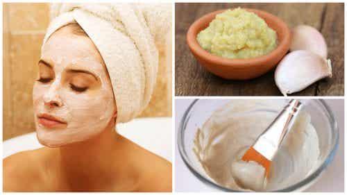 Mască pe bază de usturoi pentru întinerirea pielii