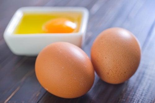 Ouăle contribuie la albirea tenului