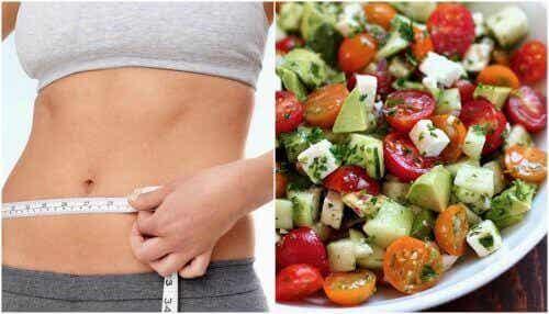 Salată cu puține calorii pentru un abdomen plat