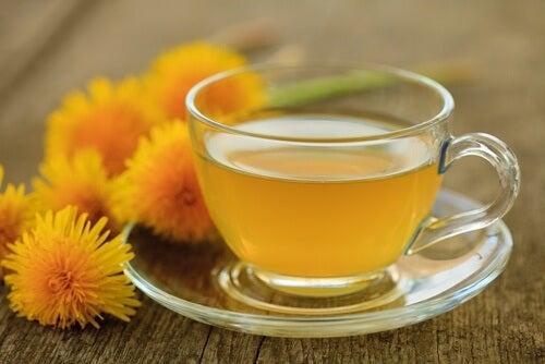 Ceaiul de păpădie tratează ficatul gras