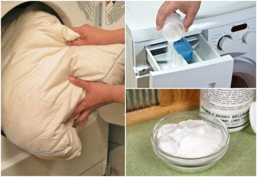 5 soluții utile pentru curățarea pernelor