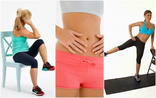5 exerciții cu scaunul care ard grăsimea abdominală