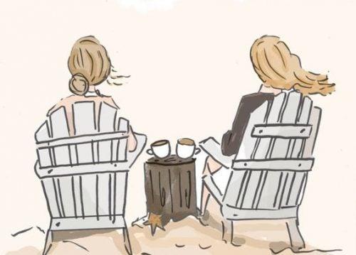 Prietenia între femei alungând stresul