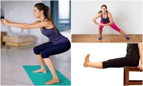 5 exerciții simple pentru tonifierea picioarelor