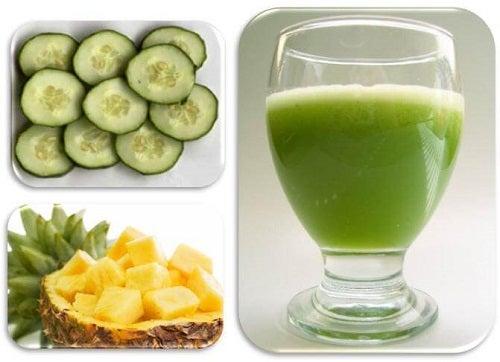 Smoothie-uri detoxifiante cu castravete și ananas