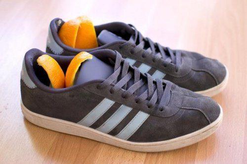 Utilizări alternative ale cojilor de portocale în pantofi