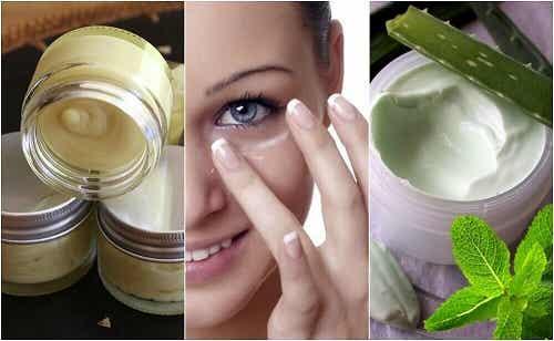 5 creme naturale pentru pielea din jurul ochilor