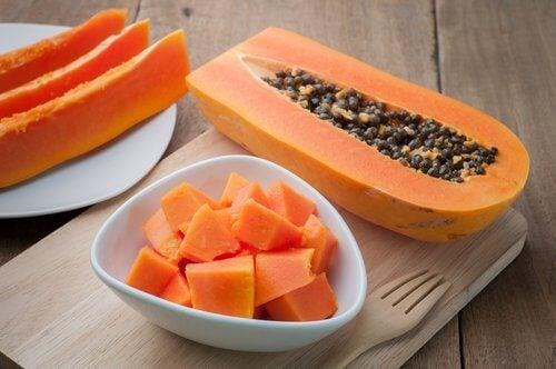 Smoothie pentru sistemul digestiv cu papaya ecologic