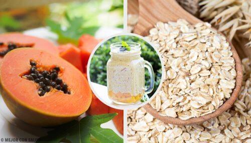 Smoothie pentru sistemul digestiv cu papaya și ovăz