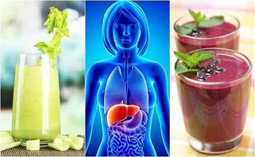 4 smoothie-uri bune pentru ficat din fructe și legume