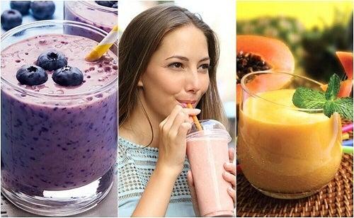 5 smoothie-uri sănătoase pentru micul dejun