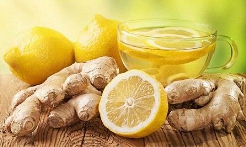 Băuturi pentru sănătatea hepatică din ghimbir și lămâie