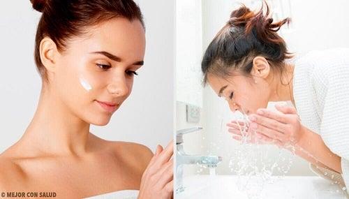 5 greșeli frecvente în curățarea feței