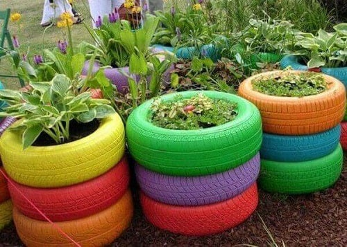 Modalități de a refolosi cauciucurile ca ghivece pentru plante