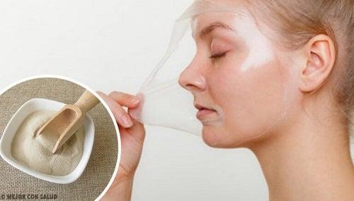 4 măști cu gelatină pentru revitalizarea pielii