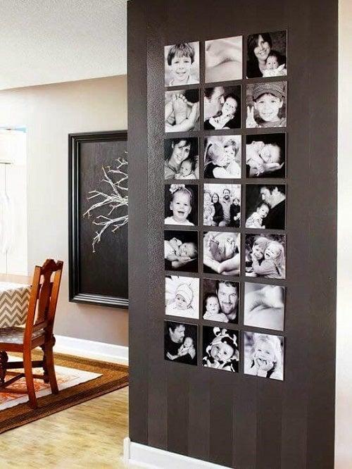 Separatoare de cameră elegante cu fotografii alb-negru