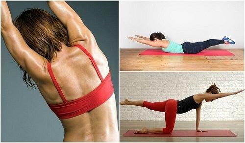 5 exerciții fizice pentru spate fără greutăți
