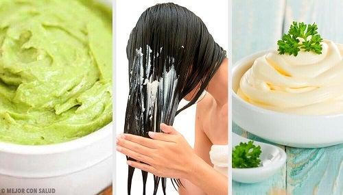 5 măști naturale pentru un păr strălucitor și mătăsos