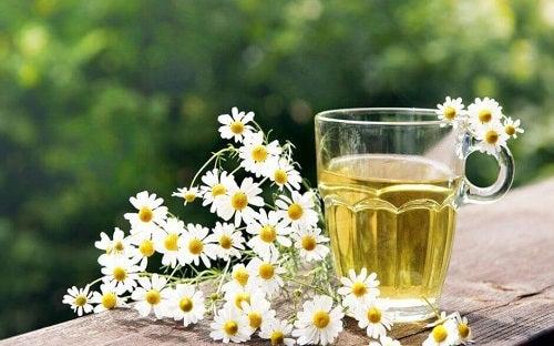 Mușețel inclus în ceaiuri pentru detoxifierea colonului