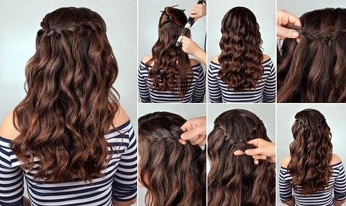 Păr ondulat și coafat