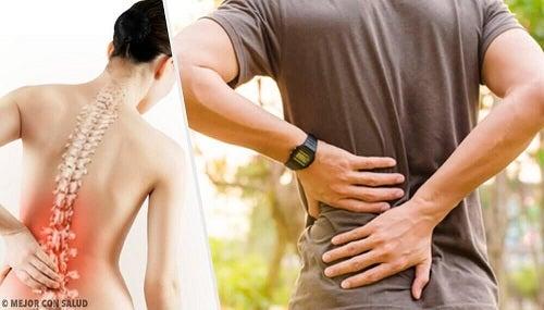 Cauzele durerii de spate și 6 afecțiuni conexe