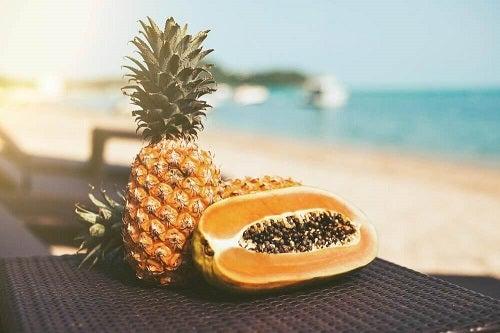 Ananasul face parte dintr-o dietă sănătoasă pentru un abdomen plat