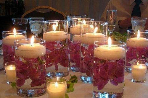 Idei creative pentru pahare luminate de sticlă