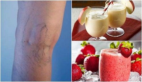 5 sucuri naturale împotriva varicelor