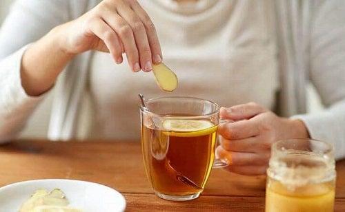 Ceai concentrat de ghimbir gustos și sănătos