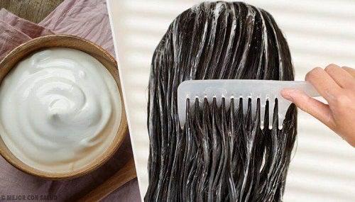 Mască pentru un păr sănătos pe bază de maioneză