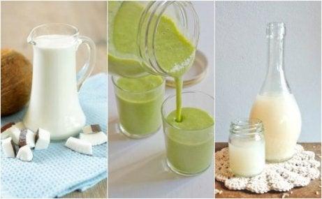 Smoothie-ul verde poate fi preparat cu unt de cocos