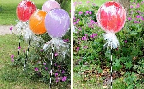 Decorațiuni cu baloane tip acadele