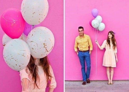 Decorațiuni cu baloane cu pete de vopsea