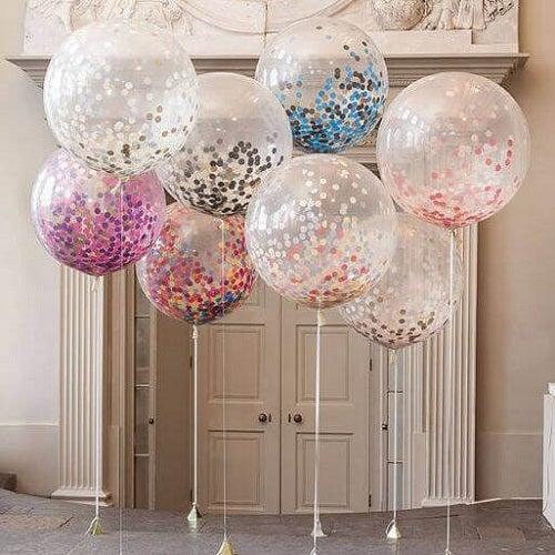 Decorațiuni cu baloane transparente cu buline