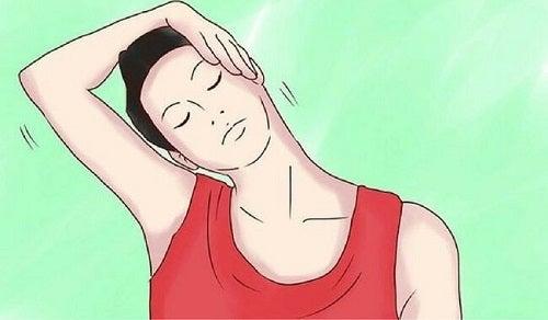 Exerciții simple împotriva bărbiei duble precum mișcarea gâtului
