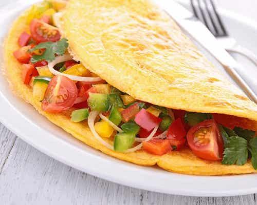 Rețetă de omletă vegetală delicioasă