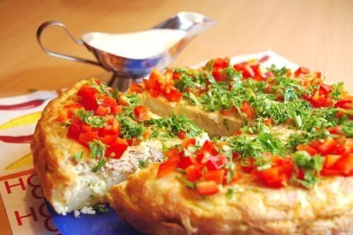 Omletă franțuzească cu legume