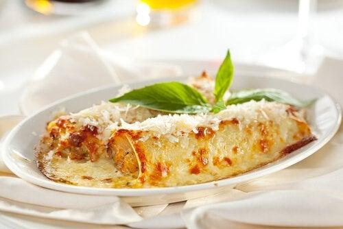Rețetă de cannelloni cu legume și brânză