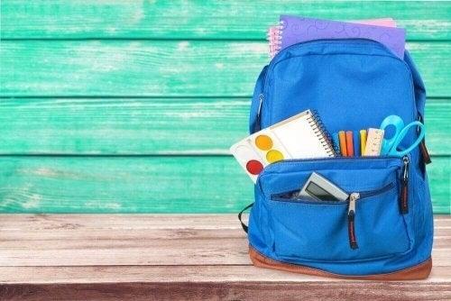 Ghiozdan echipat pentru școală