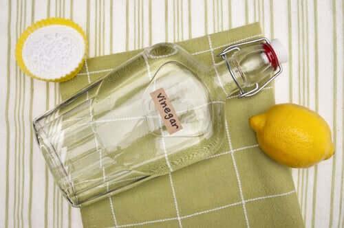 Oțet alb, lămâie și bicarbonat de sodiu