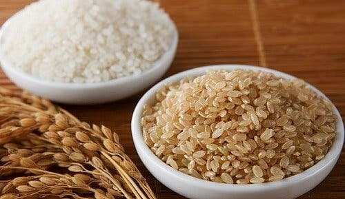Castroane cu orez alb și orez brun
