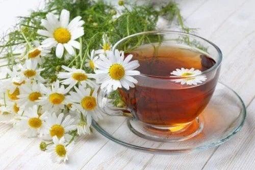 Ceai de flori proaspete de mușețel