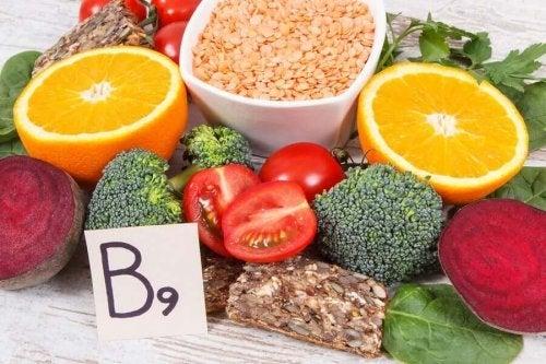 Fructe și legume care conțin folat