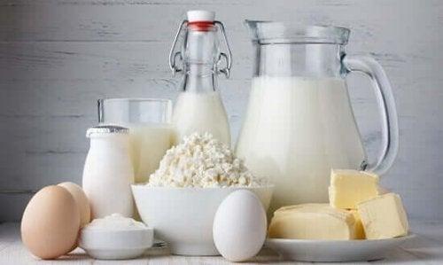 Ouă și lactate bogate în calciu