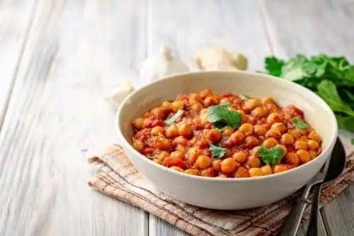 Rețetă delicioasă de curry de năut