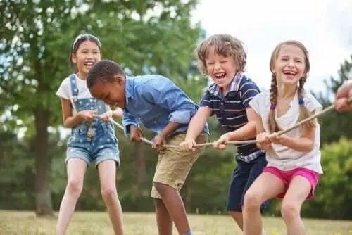Jocurile în echipă la copii
