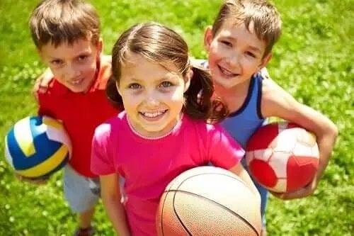 Jocurile în echipă la copii preșcolari