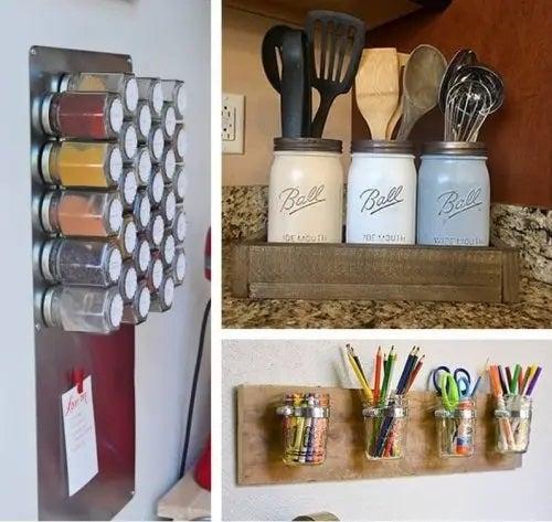 Cum să refolosești borcanele pentru organizarea locuinței