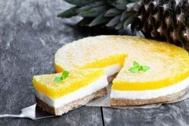 Rețetă de cheesecake pina colada fără coacere